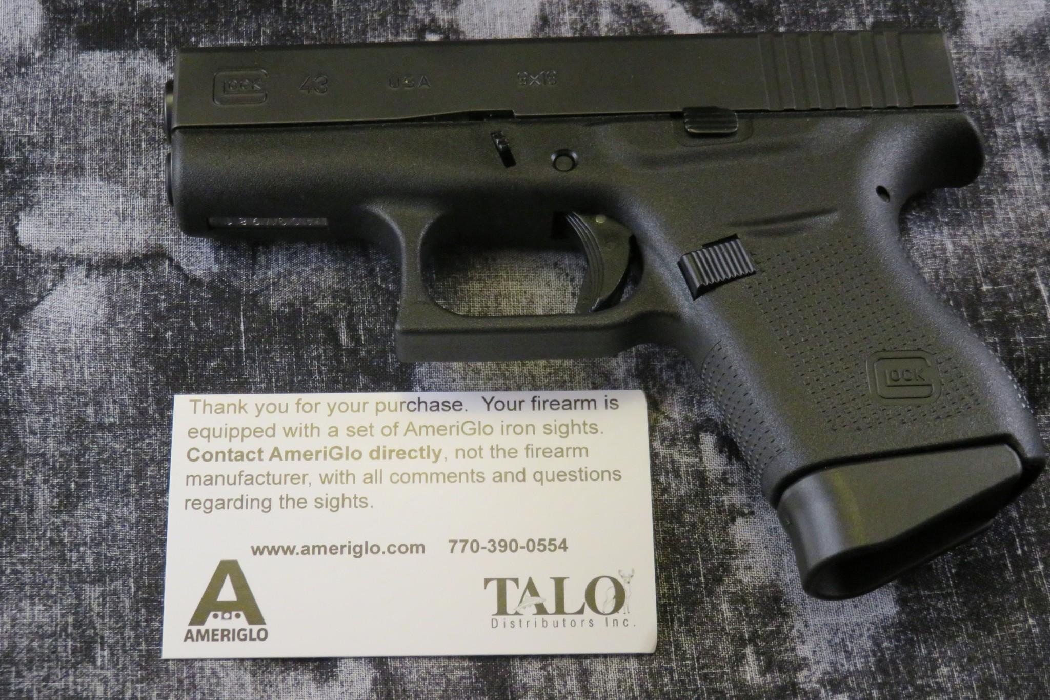 nib glock 43 9mm talo edition auction armory