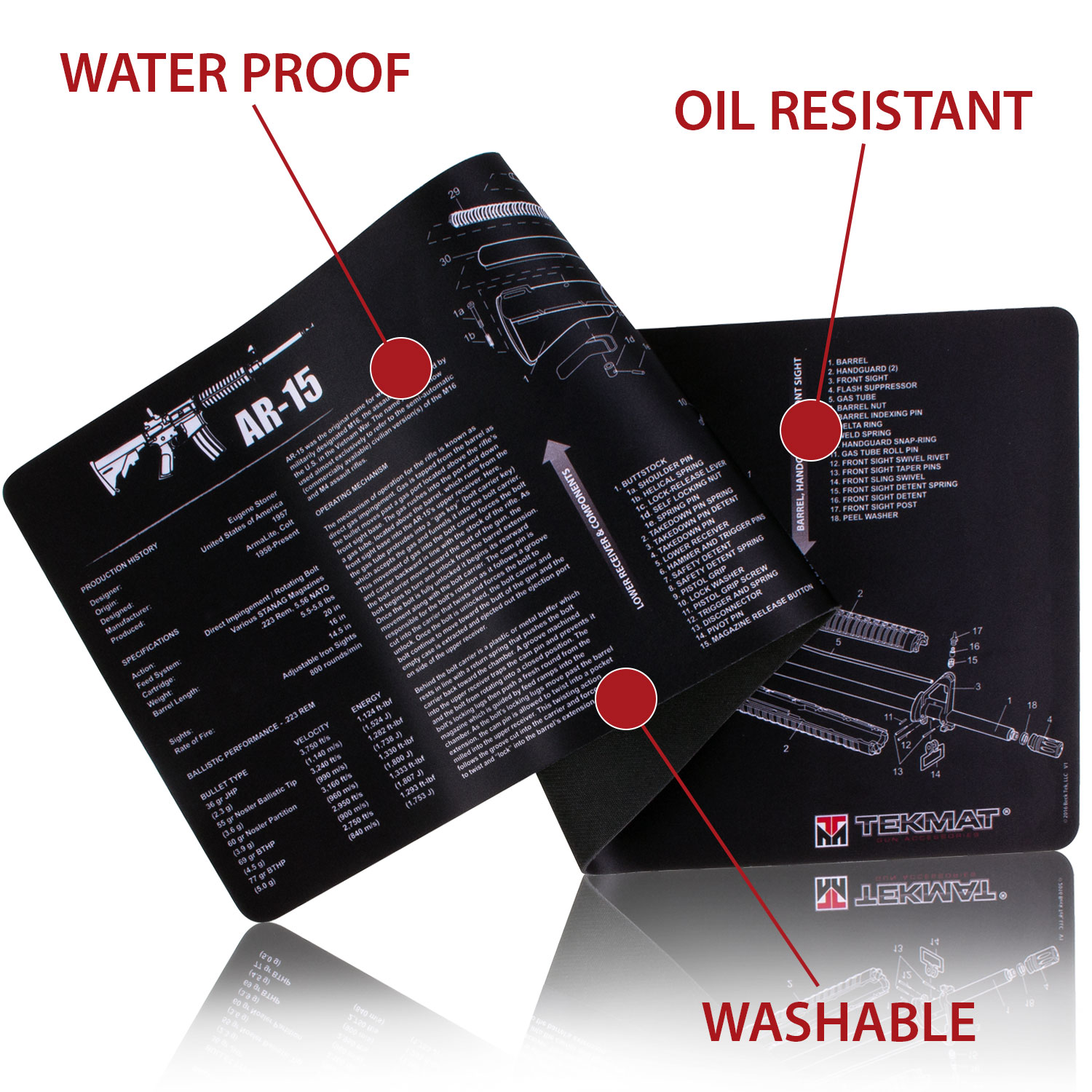 Tekmat 1911 Handgun Mat 171911 By Item No T Safety Diagram Also With Exploded Parts View Gun Cleaning Description Reviews 0 Product Information
