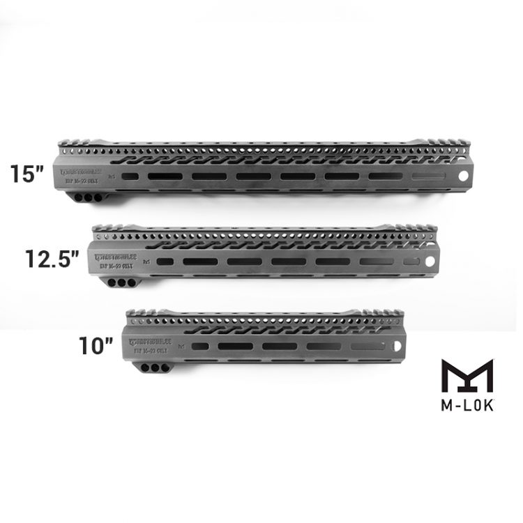 S&W M&P 15-22 Aluminum Free Float Hand Guards M-LOK, Anti-rotation, limited turn push button