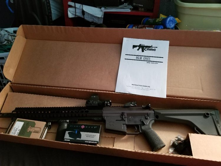 WTS CMMG .458 Socom. Comes with everything seen in the picture and about 200 rounds of assorted roun