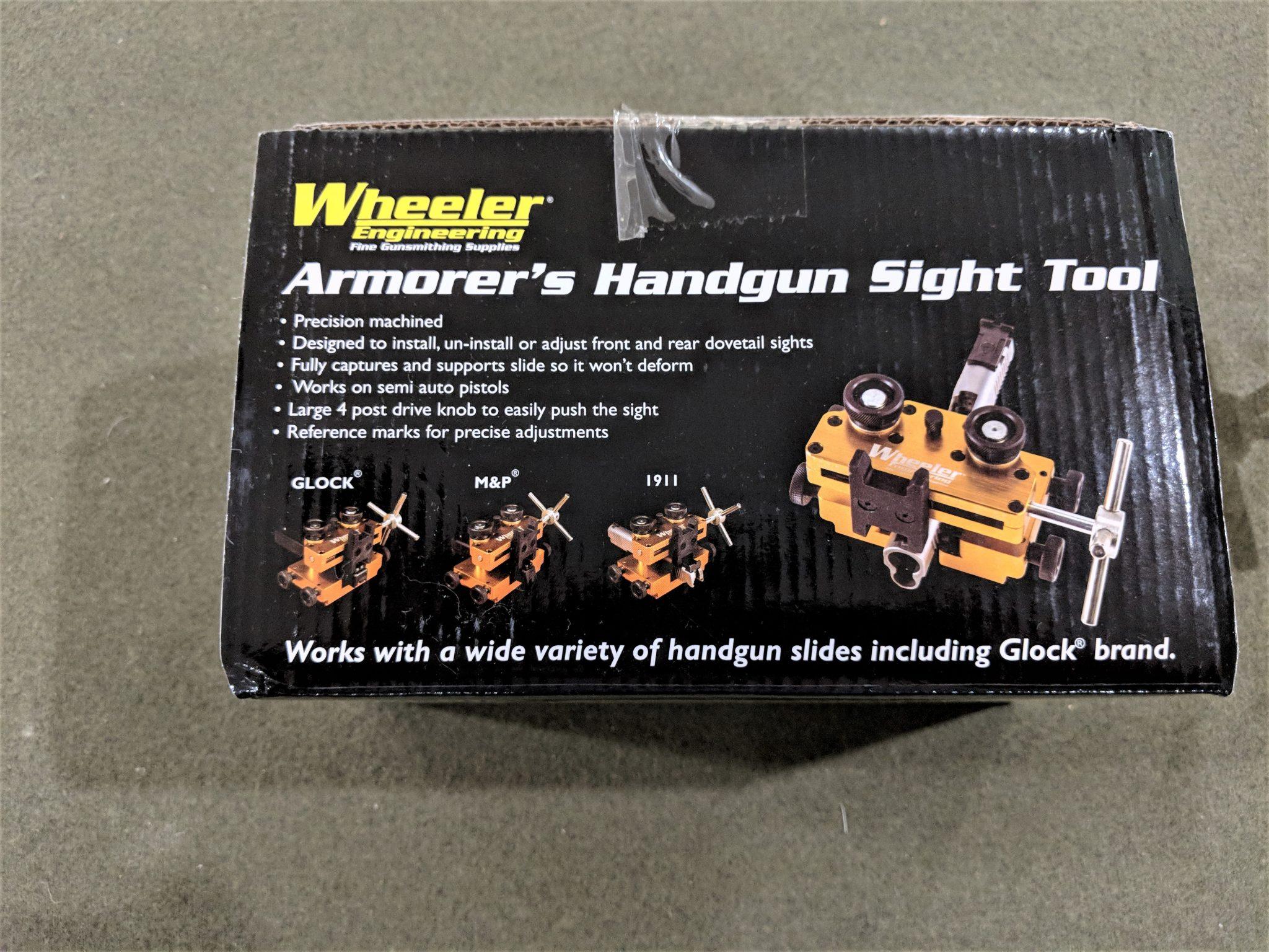 Wheeler Amorers Handgun Sight Tool Auction Armory