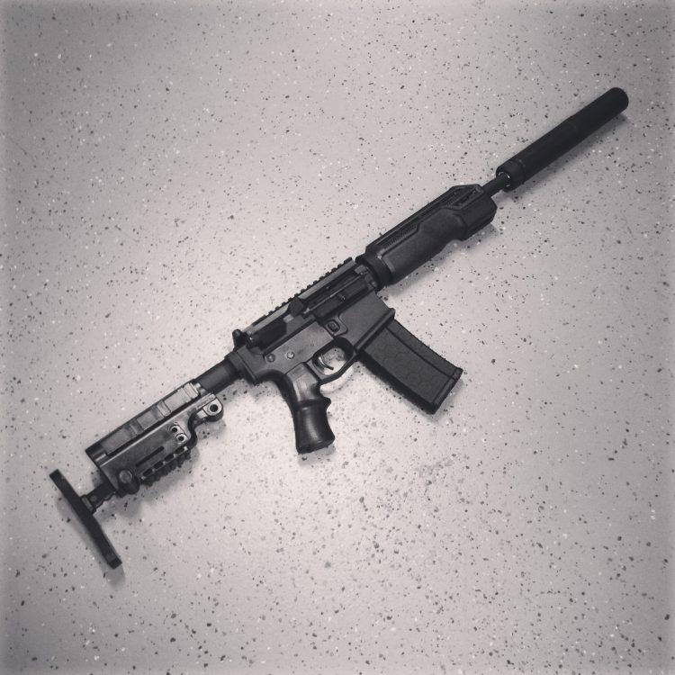 A*B Arms Tactical Upgrade Kit AR15 Furniture. A*B Pro Hand Guard + P*Grip + Urban Assault Stock! SBR