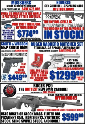 Looking for a new forest carry or hunting gun? Stop in and let us help you find the perfect firearm.