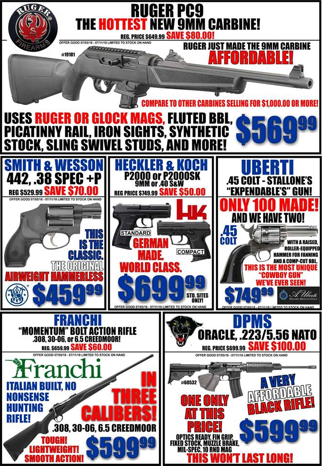 Everybody has a budget. We have guns that will fit yours. This month's budget might be a littl