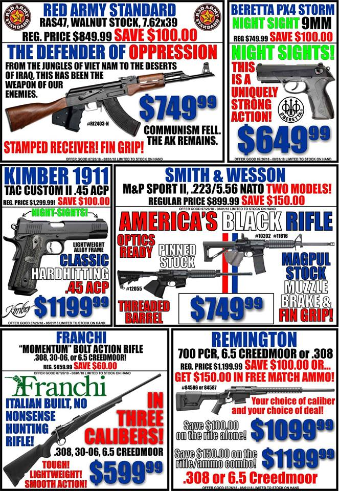 No matter what kind of firearm you are looking for, chances are…WE HAVE IT! And we have a lot