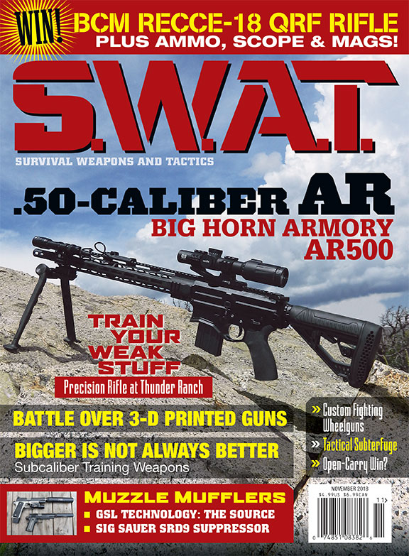 Anyone a fan of SWAT magazine? We are! SWAT_November_2018