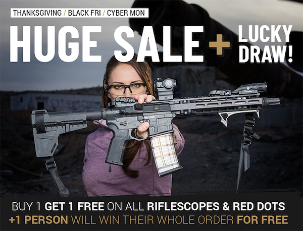 Riton Optics Announces the BIGGEST Thanksgiving Weekend Sale In the Optics Industry, Win Your Riton Contest
