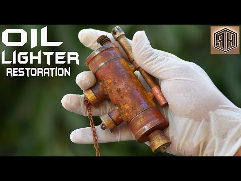 Vintage Kerosene Oil LIGHTER - Impressive RESTORATION