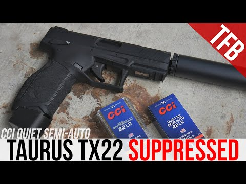 Cheapest Gun/Silencer Combo That Works: Taurus TX22 and CCI Quiet Ammo