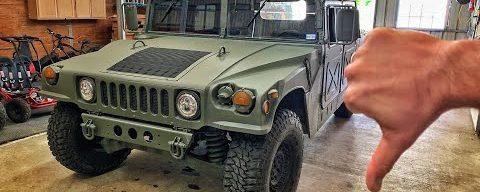 Bad News on the Humvee…