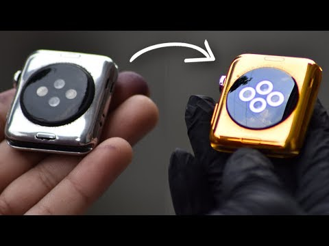 Turning Apple Watch into 24 Karat Gold I Watch