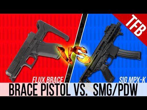Glock 17 Flux Brace vs. SIG MPX-k: Which is Better, Braced Pistol or PDW?