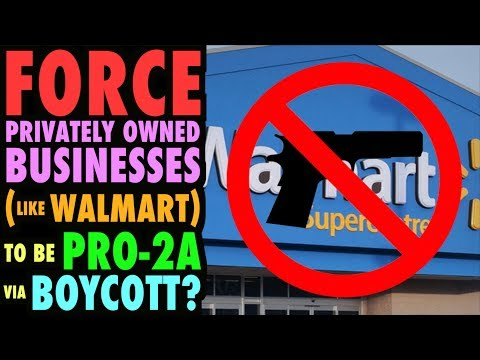 Force Private Businesses to be Pro-2A via Boycott?