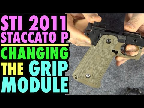 Changing the STI 2011 Staccato P Grip Module...(New Two Tone Look)