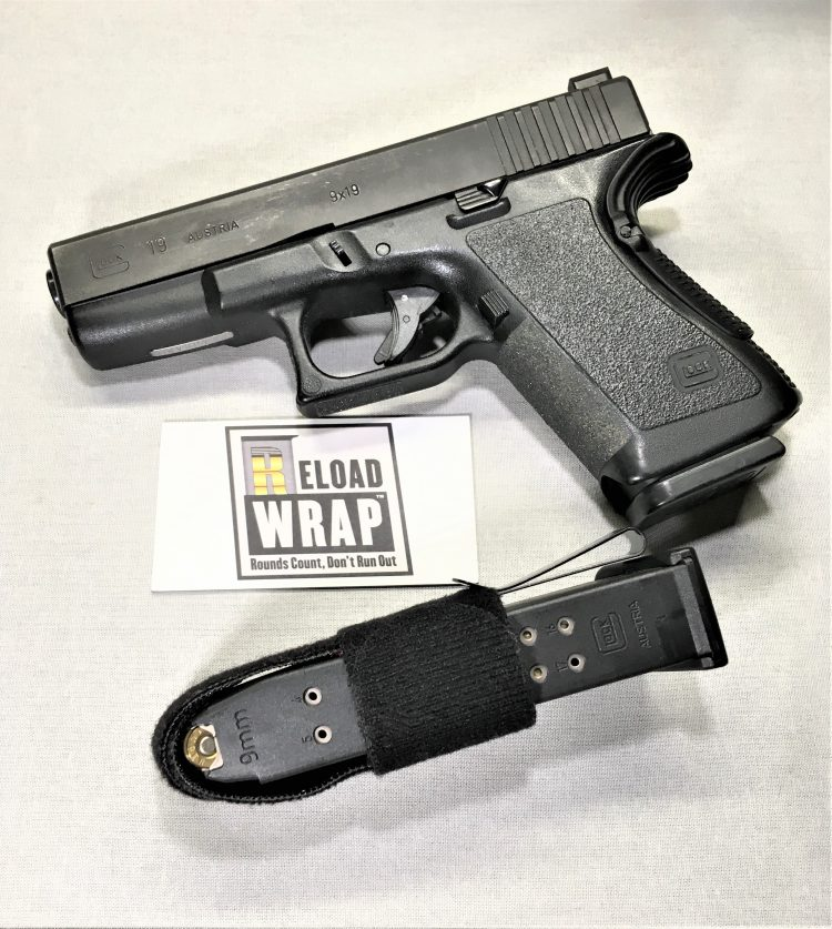 Old School Glock 19 Gen 2, with a ReloadWrap mag carrier…….www.reloadwrap.com IMG_1038