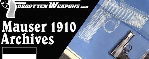 Papers Behind the Pistol: Mauser's Archives on the Model 1910