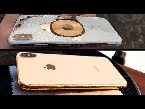 Destroyed iPhone XS Max - GOLD Restoration