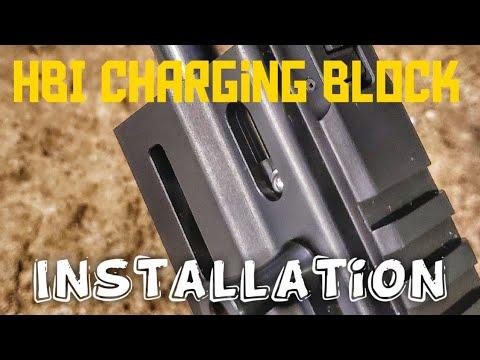 HBI Detent charging block installation for the Grand Power Stribog