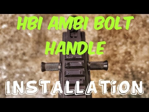 HBI Ambi Charging Handle Installation for the Grand Power Stribog