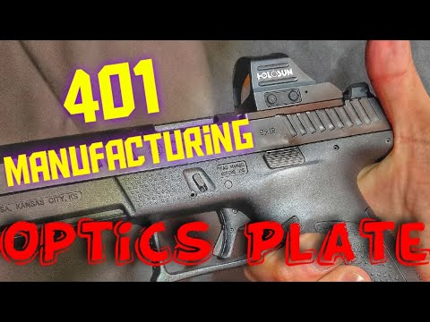 401 Manufacturing CZ P10 Optics Plate