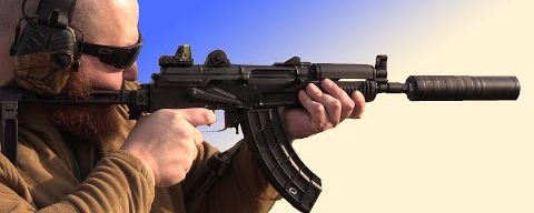Suppressed AK 47, Without an AK Can, No Alignment Rod (Not Suggested)