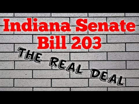 Indiana Senate Bill 203: The Real Deal.  ProposedGun Control Laws and what they really mean