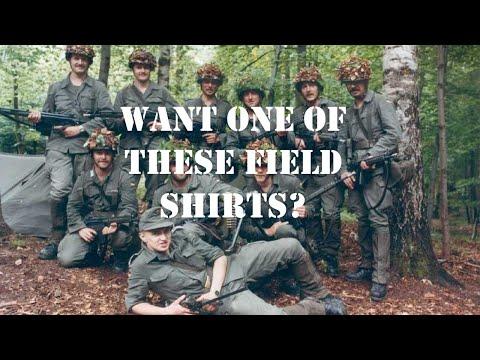 West German Bundeswehr Moleskin O.D. Field Shirts at Mike's Militaria!