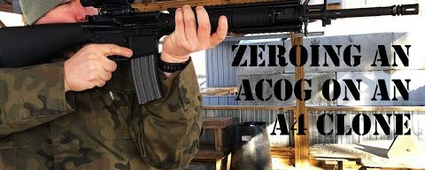 Zeroing a Trijicon ACOG on an M16A4 Clone