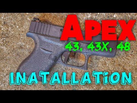 Apex Enhanced Trigger installation for Glock Slim Frame G43, G43x, G48