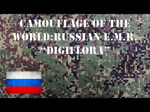 "Camouflage of the World: Russian EMR or ""DigiFlora"" Summer Camo Pattern."