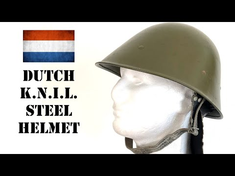 Helmets of the World: Dutch KNIL Troops Steel Helmet