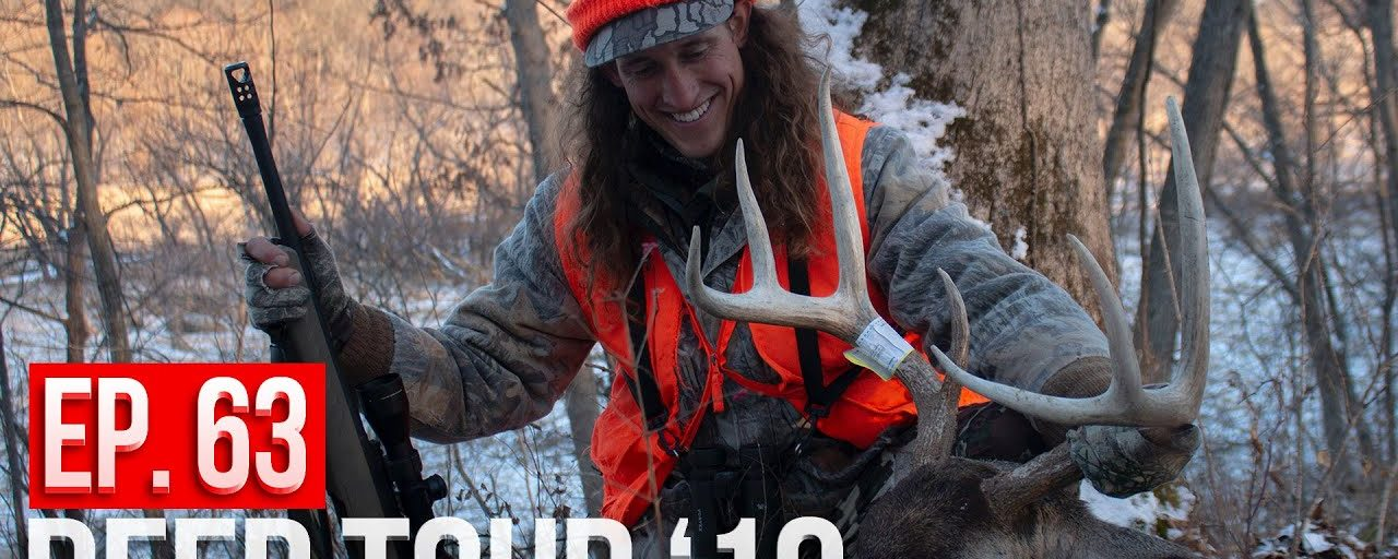 HUGE BUCK ON A TWO MAN DEER DRIVE! – Iowa Public Land Gun Hunting