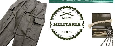 COOL NEW STUFF at Mike's Militaria! German Moleskin Field Pants, East German Stuff, G3 Cleaning Kits
