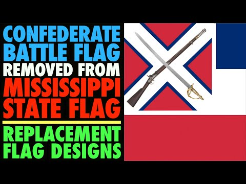 Confederate Battle Flag Removed from Mississippi State Flag! (New Design Ideas)