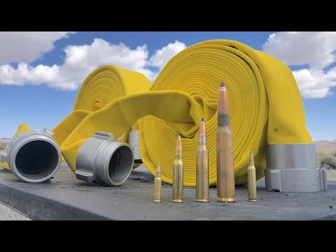 Can a fire hose stop these bullets?