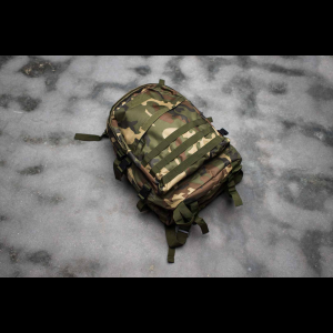 Tactical Backpack - 3 Pocket - 4 Colors Available (Color: Woodland Camo)