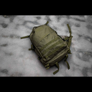Tactical Backpack - 3 Pocket - 4 Colors Available (Color: Green)