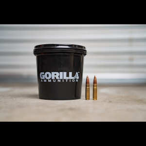 Gorilla Ammunition .300 AAC Blackout, 150gr Sierra GameKing FMJ - 160 Round Bucket