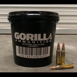 Gorilla Ammunition .223 REM 69gr Sierra Matchking(C) - 150 Round Bucket