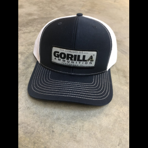 Gorilla Ammunition Woven Label Trucker Hat (Color: Navy, White Mesh)